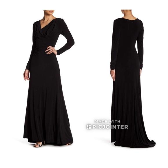 Vera Wang Long Sleeve Formal Dress